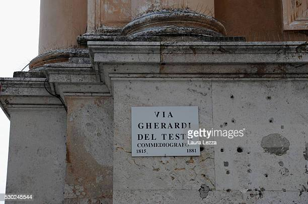 A view of the street Via Gherardi Del Testa where it is assumed it was the laboratory of Amedeo Modigliani in front of the market is displayed May 10...