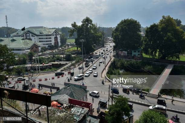 View of the streets during the shutdown in Srinagar Kashmir valley remained shut for the 24th consecutive day following annulment of special status...