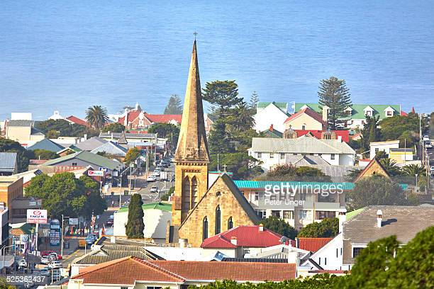 view of the streets of mossel bay - mossel bay stock pictures, royalty-free photos & images