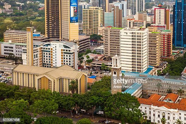 View of the streets of Nairobi, Kenya