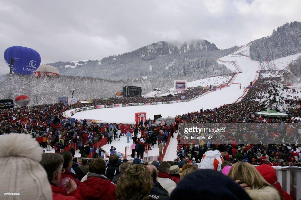 View of the 'Streiff', the Hahnenkamm Race on January 21, 2006 in Kitzbuehel, Austria