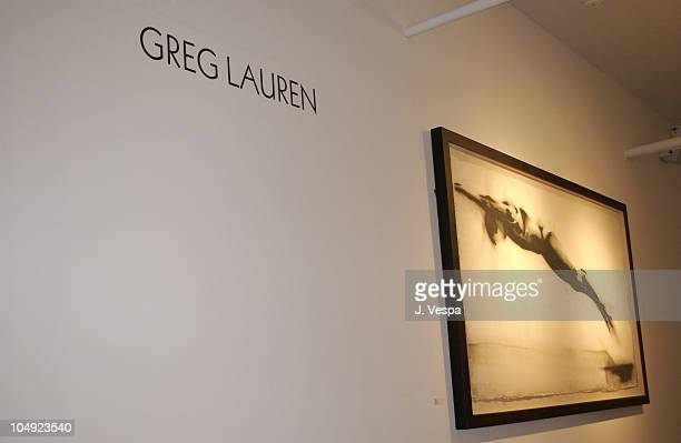 View of the Stricoff gallery with Greg Lauren's art work