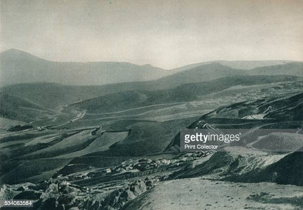 View of the sulphur mines Agrigento Sicily Italy' from 'Italien in Bildern' by Eugen Poppel 1927 Sulphur and potash were mined at Agrigento on the...