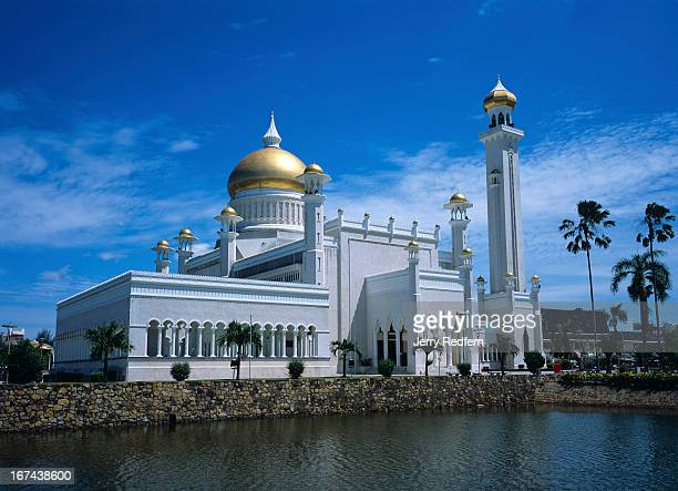 View of the Sultan Omar Ali Saifuddin Mosque finished in 1958 and the main dome is reportedly covered in real gold It is visible from nearly any...