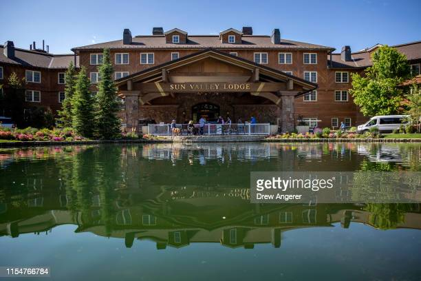 A view of the Sun Valley Resort ahead of the annual Allen Company Sun Valley Conference July 9 2019 in Sun Valley Idaho Every July some of the...
