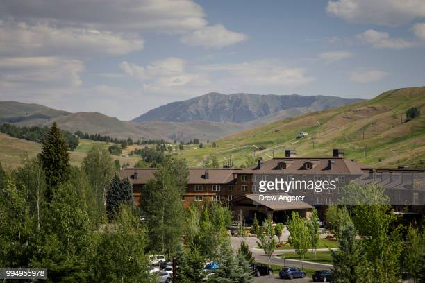 A view of the Sun Valley Resort ahead of the annual Allen Company Sun Valley Conference July 9 2018 in Sun Valley Idaho Every July some of the...