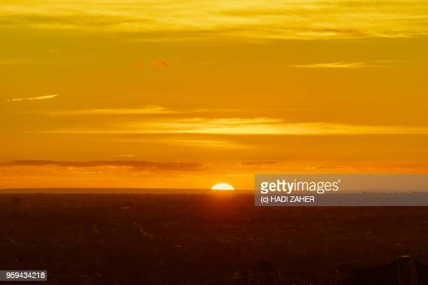 A view of the Sunset over suburban Melbourne | Australia