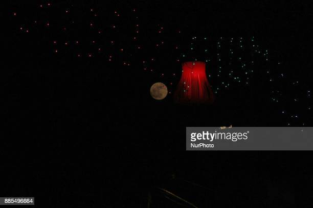 View of the Super Moon on 3rd Dec 2017 in Delhi India