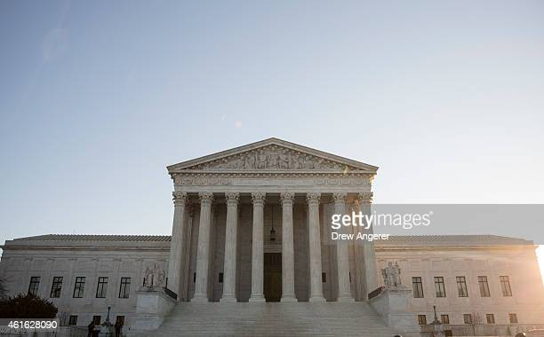 A view of the Supreme Court January 16 2015 in Washington DC On Friday the Supreme Court is meeting in closed conference to decide whether it will...