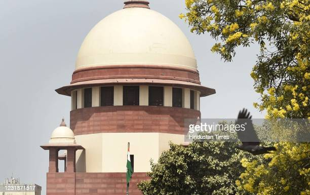 View of the Supreme Court of India building, on March 21, 2021 in New Delhi, India.