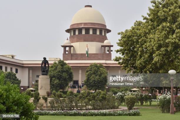 A view of the Supreme Court on July 9 2018 in New Delhi India The Supreme Court upheld the death sentence of three of the four convicts in the Dec 16...