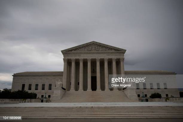 A view of the Supreme Court on Thursday morning September 27 2018 in Washington DC On Thursday Christine Blasey Ford who has accused Kavanaugh of...