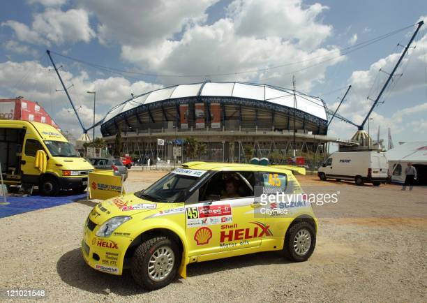 View of the Suzuki Motor Sport team during technical verifications before the 2007 World Rally Championship at the Estadio Algarve in Loule, Portugal...
