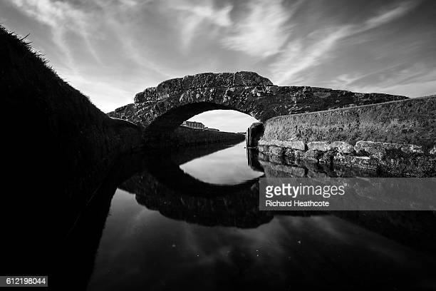 A view of the Swilken Bridge on the 18th hole of The Old Course during a practise day for the Alfred Dunhill Links Championship at The Old Course on...