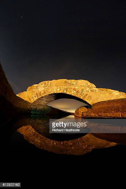 View of the Swilken Bridge on the 18th hole of The Old Course during a practise day for the Alfred Dunhill Links Championship at The Old Course on...
