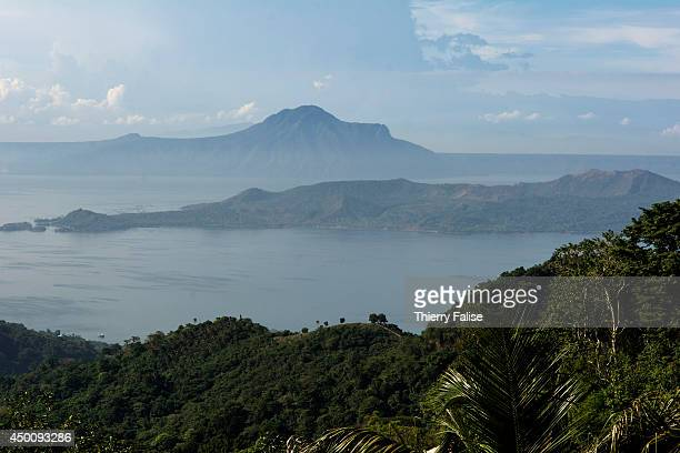 A view of the Taal Lake a large fresh water lake near Manila with the Taal volcano