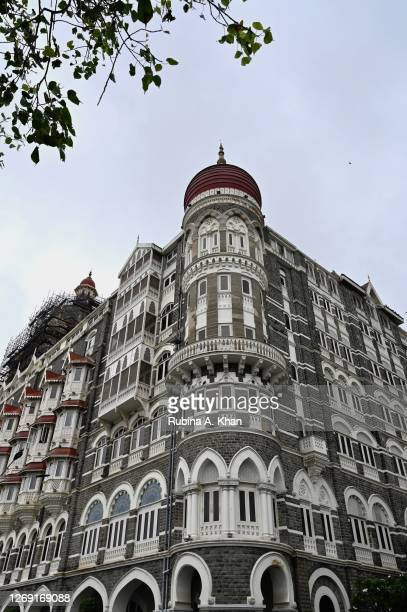 View of the Taj Mahal Palace Hotel built in 1903 on August 21, 2020 in Mumbai, India.
