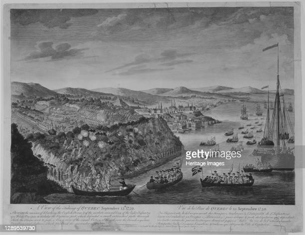 View of the Taking of Quebec, September 13 ca. 1760. Artist Bowles & Carver.