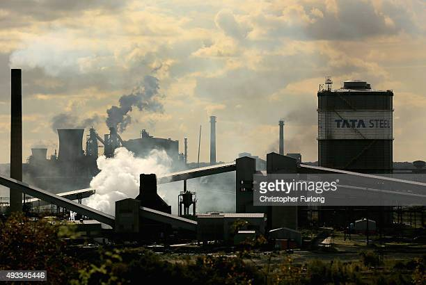 View of the Tata Steel processing plant at Scunthorpe which may make 1200 workers redundant on October 19, 2015 in Scunthorpe, England. Up to one in...