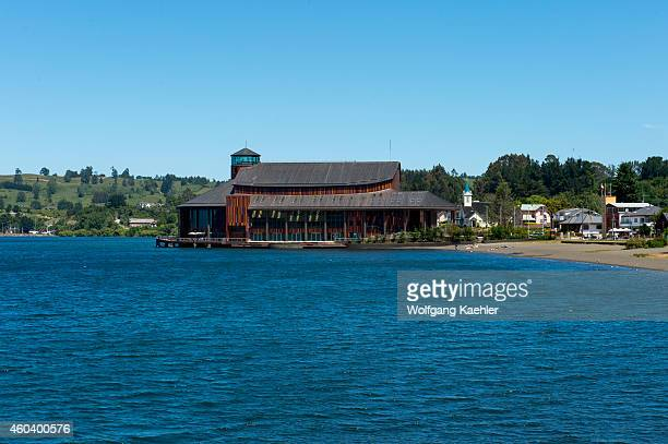 View of the Teatro del Lago in Frutillar a small town on Lake Llanquihue in the Lake District near Puerto Montt Chile