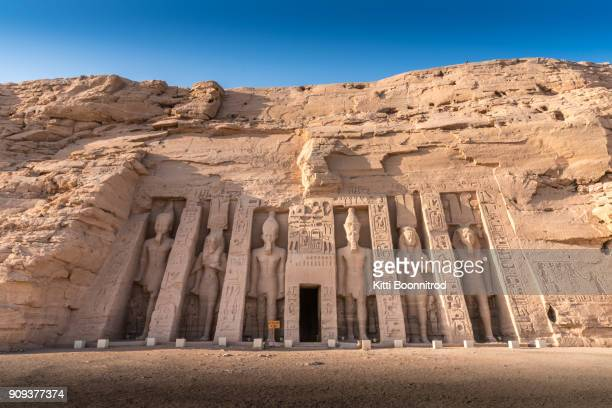 View of the temple of Nefertari, the queen of Ramesses II, in Abu Simbel temple, Egypt