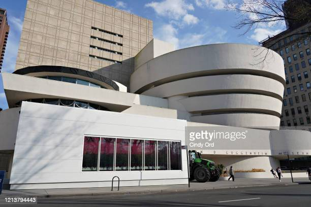 View of the temporarily closed Guggenheim Museum as the coronavirus continues to spread across the United States on March 20, 2020 in New York City....