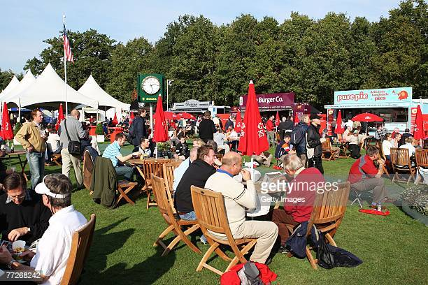View of the Tented Village during the First Round of the HSBC World Matchplay Championship at The Wentworth Club on October 11, 2007 in Virginia...