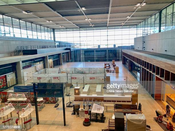 View of the terminal building of Berlin Brandenburg Airport on September 17, 2020 in Schoenefeld, Germany.