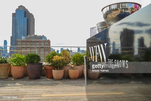 View of the terrace during September 14, 2020 - New York Fashion Week: The Shows at Spring Studios on September 14, 2020 in New York City.