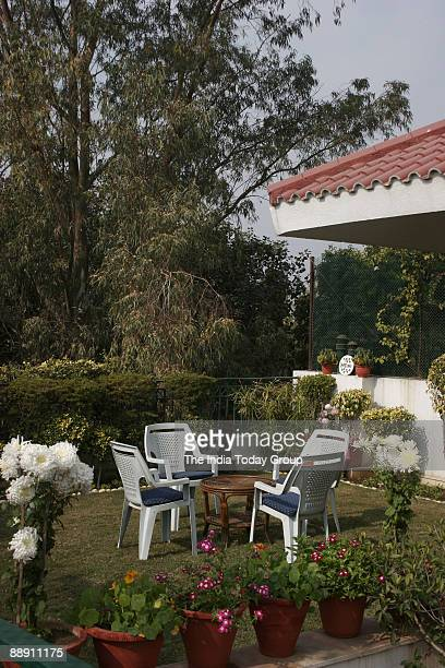 View of the Terrace Gardens at Rekha Khandelwal House in New Delhi India
