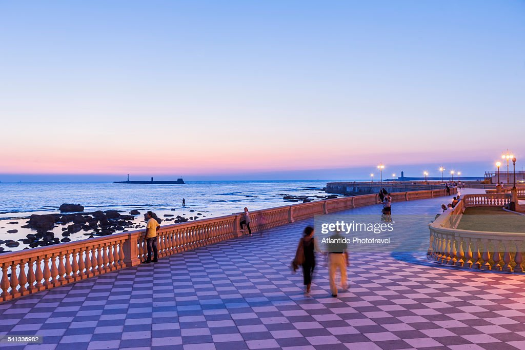 View Of The Terrazza Mascagni At Twilight Stock Photo | Getty Images