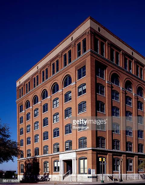 View of the Texas School Book Depository in Dallas Texas from which according to the Warren Commission Lee Harvey Oswald killed President John F...