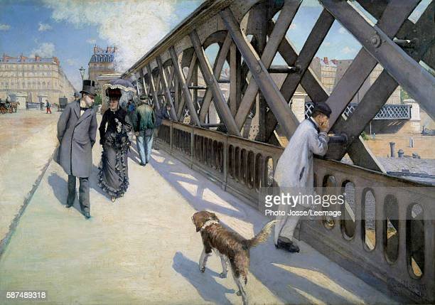 View of the The Europe Bridge Paris 1876 Painting by Gustave Caillebotte oil on canvas 1876 Musee du petit palais Geneve Swiss