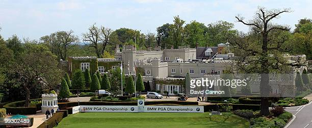 A view of the the par 4 1st tee with the clubhouse behind on the recently renovated West Course at the Wentworth Club venue for the 2010 BMW PGA...
