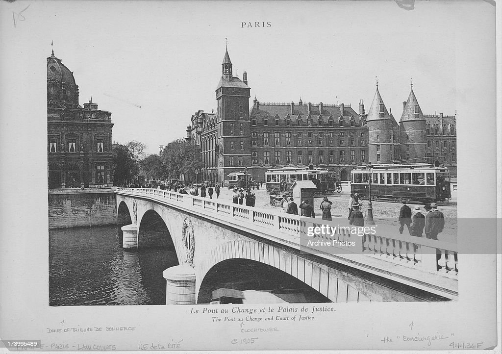 A View Of The The Pont Au Change A Bridge Over The Seine