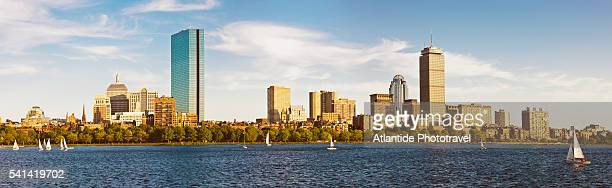 view of the the town from cambridge riverside - cambridge massachusetts stock pictures, royalty-free photos & images