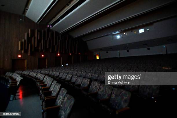 View of the theater interior at the 'I Am the Night' screening at LACMA on January 17, 2019 in Los Angeles, California. 484150.