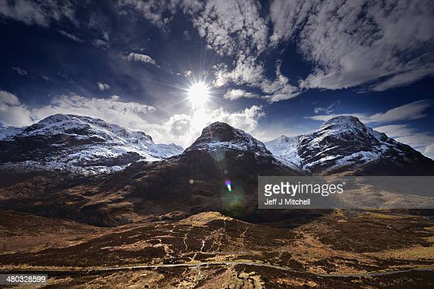 A view of the Three Sisters in Glen Coe on March 24 2014 in Glen Coe Scotland A referendum on whether Scotland should be an independent country will...
