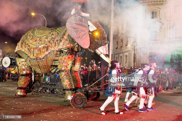 View of the Three Wise Men parade in Madrid, Spain, 05 January 2020.The traditional Three Kings parade is held all over the country 05 January every...