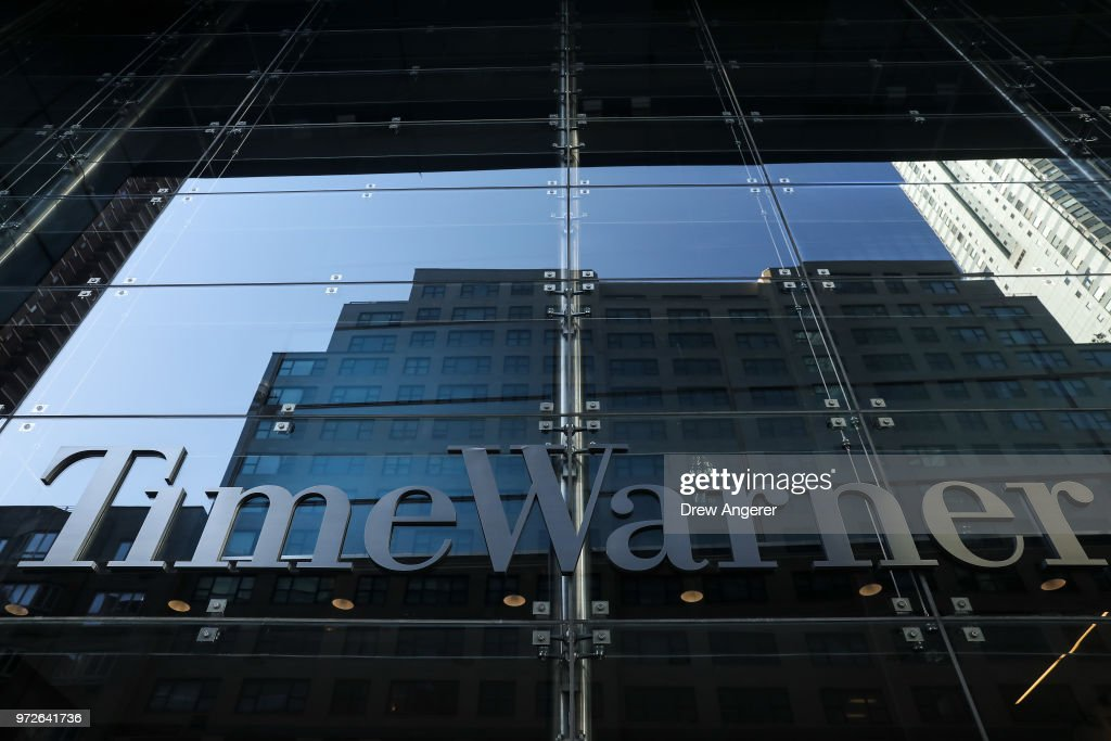 A view of the Time Warner Center, June 12, 2018 in New York City. A federal judge today said that AT&T can move forward with its $85 billion acquisition of Time Warner, which the U.S. Justice Department had sought to block.