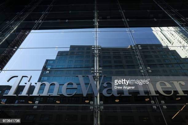 A view of the Time Warner Center June 12 2018 in New York City A federal judge today said that ATT can move forward with its $85 billion acquisition...