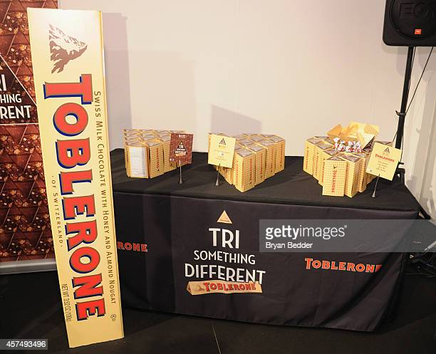 View of the Toblerone station at the Grand Tasting presented by ShopRite featuring KitchenAid® culinary demonstrations presented by MasterCard during...