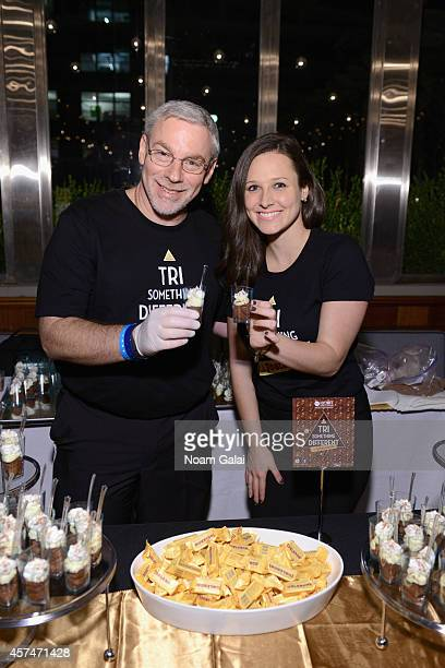 A view of the Toblerone table at Ample Hills Brooklyn's Best Dessert Party during the Food Network New York City Wine Food Festival Presented By FOOD...