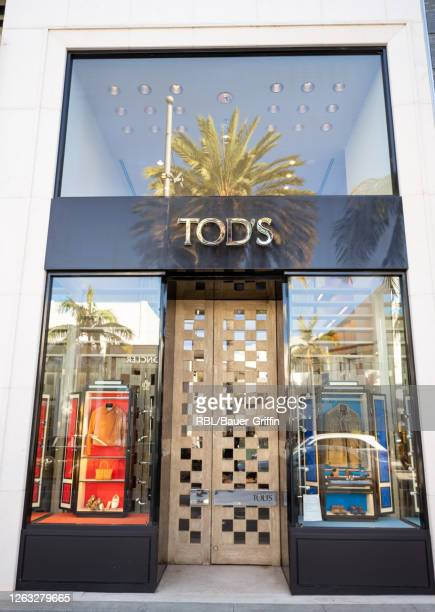 View of the Tod's store in Beverly Hills on August 01, 2020 in Los Angeles, California.