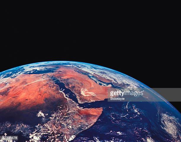 view of the top of the earth from space