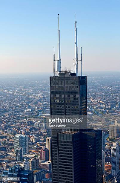 View of the top of Willis Tower (Sears Tower)