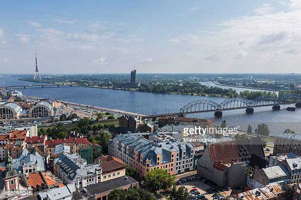 View of the town and Daugava river