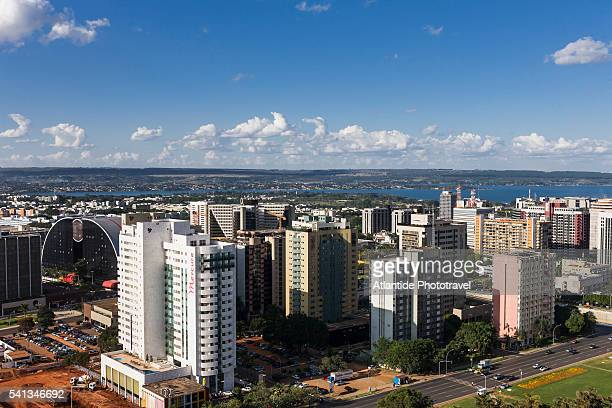 view of the town from brasilia tv tower - distrito federal brasilia stock pictures, royalty-free photos & images