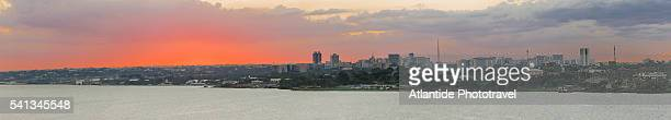 view of the town from ponte (bridge) juscelino kubitschek - distrito federal brasilia stock pictures, royalty-free photos & images