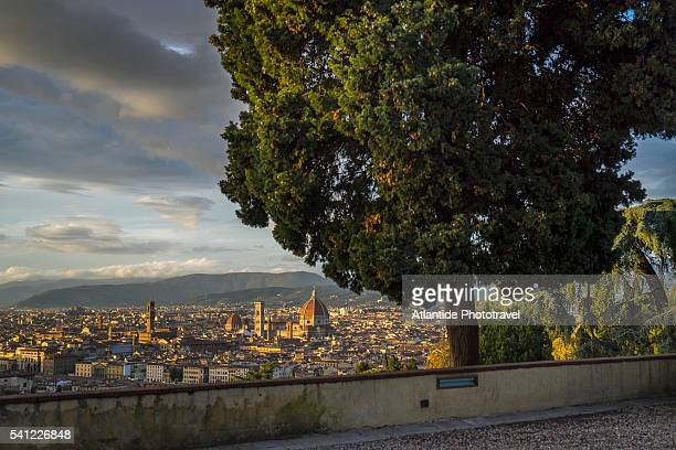 view of the town from san miniato al monte - san miniato stock pictures, royalty-free photos & images